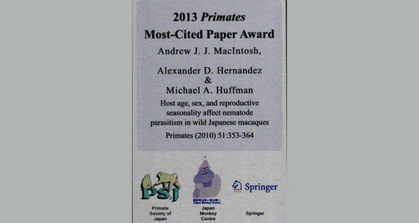 primates most-cited paper award