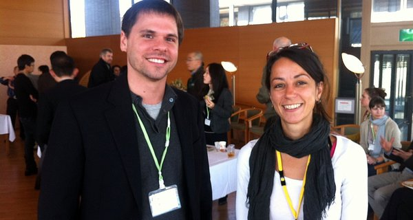Chris Martin with Dora Biro at the IIAS conference in Kyoto